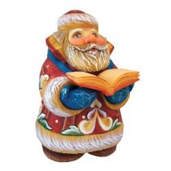 Scholar Santa Figurine