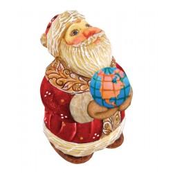 Santa Globe Figurine