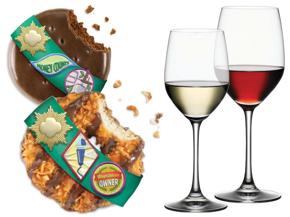 girl scout cookies and wine pairings