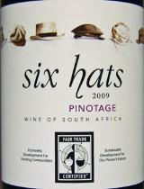 six hats pinotage 2009